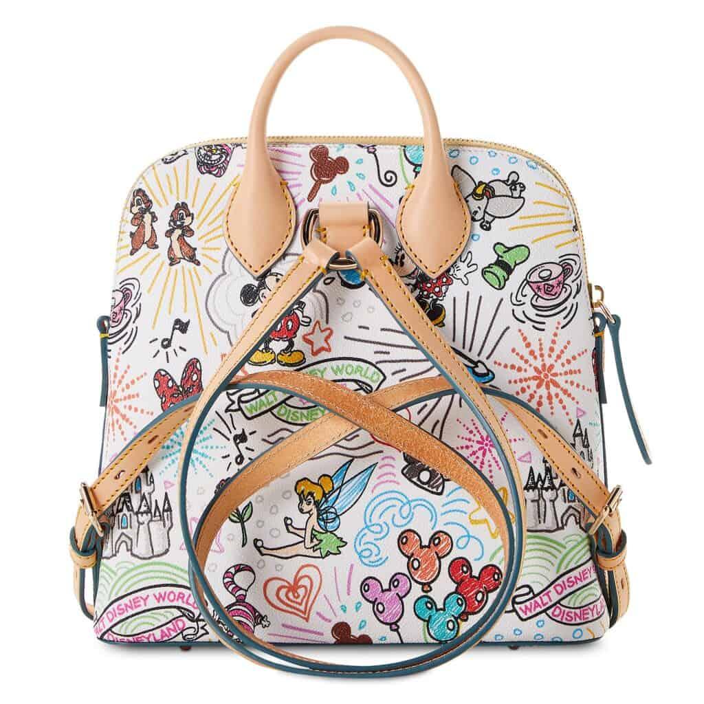 Disney Sketch 2021 Backpack (back) by Dooney & Bourke
