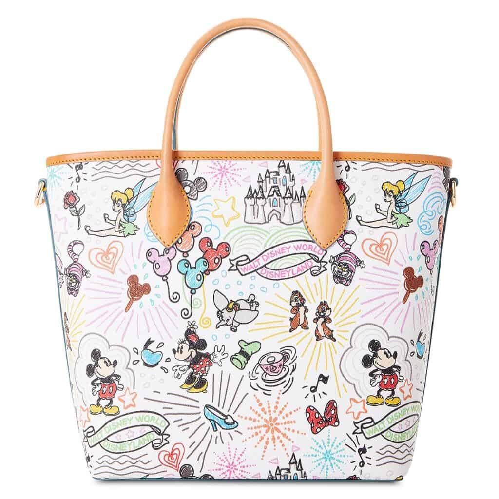 Disney Sketch 2021 Handle Tote Bag (back) by Dooney & Bourke