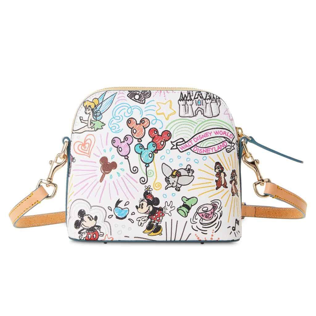 Disney Sketch 2021 Crossbody Bag (back) by Dooney & Bourke