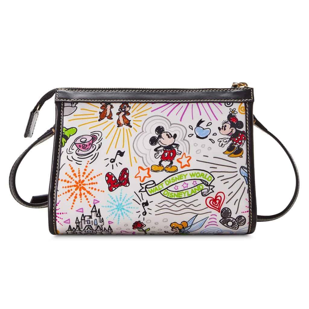 Disney Sketch 2021 Nylon Crossbody Bag (back) by Dooney & Bourke