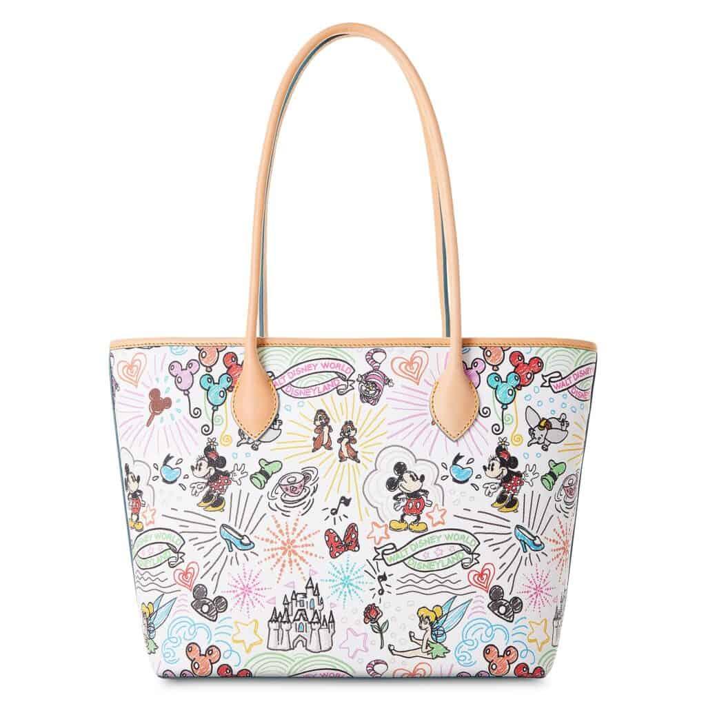 Disney Sketch 2021 Tote Bag (back) by Dooney & Bourke