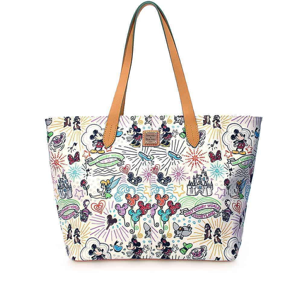 Disney Sketch 2014 Large Zip Shopper
