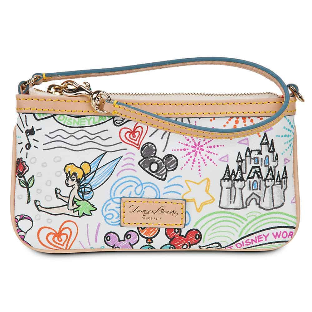 Disney Sketch 2014 Zip Wristlet
