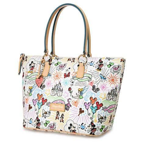 White Sketch v3 Large Shopper Tote by Dooney and Bourke