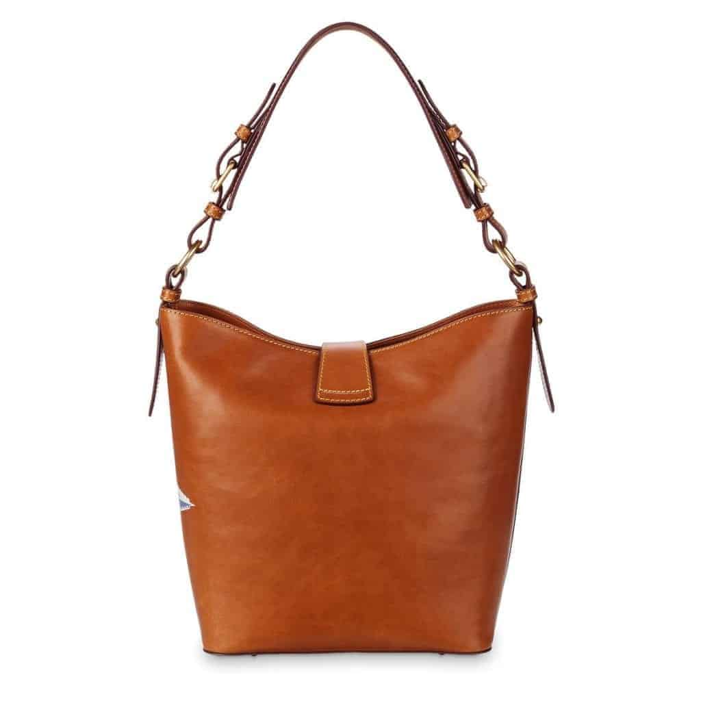 Passport Leather Bucket Tote (back)