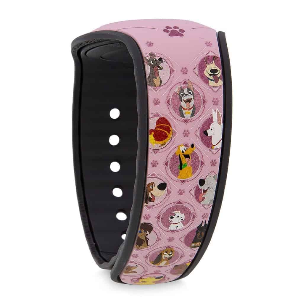 Pink Disney Dogs MagicBand Back