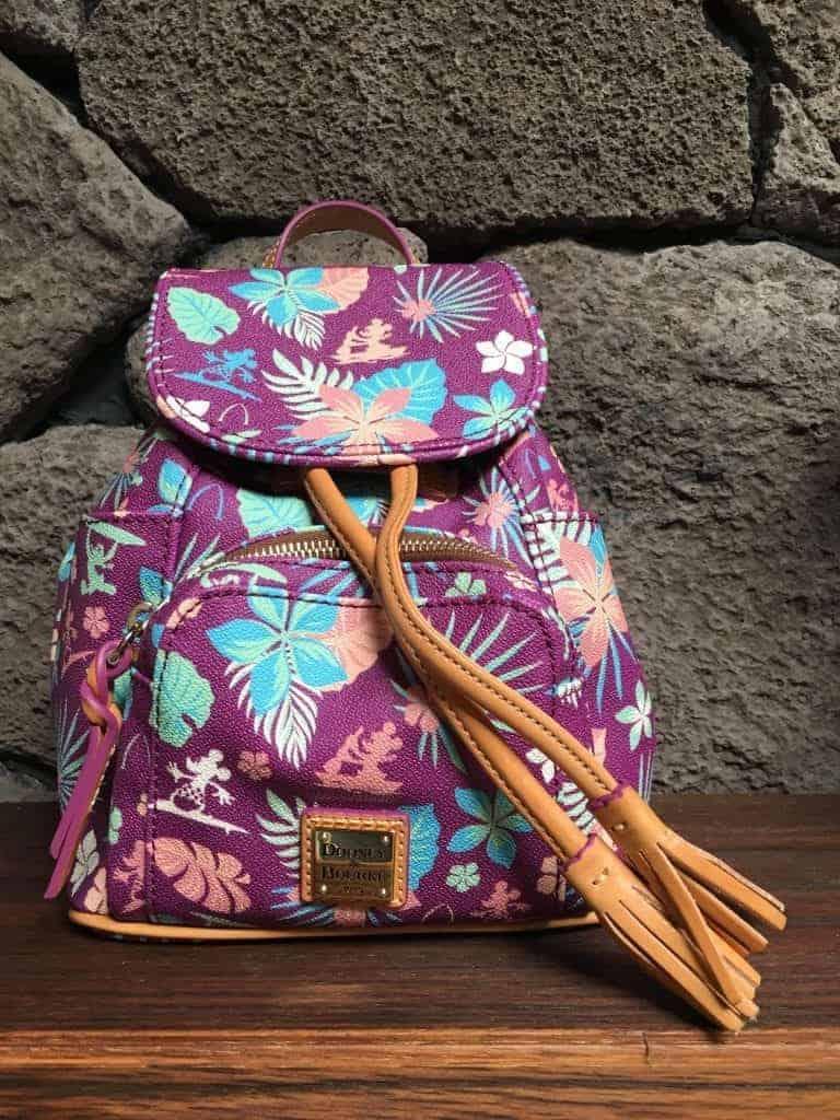 Aulani Purple Floral Backpack