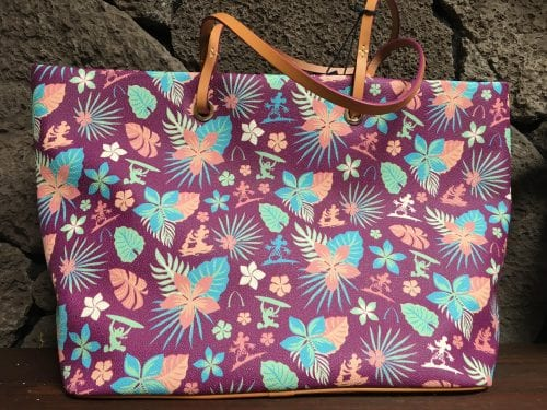Aulani Purple Floral Tote (Back)