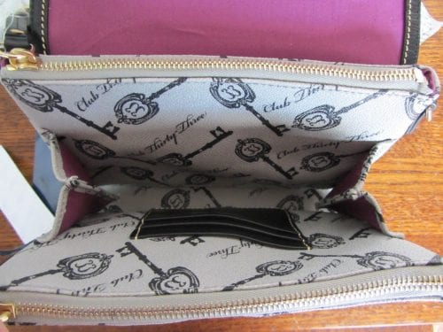Club 33 Keys Crossbody (inside)