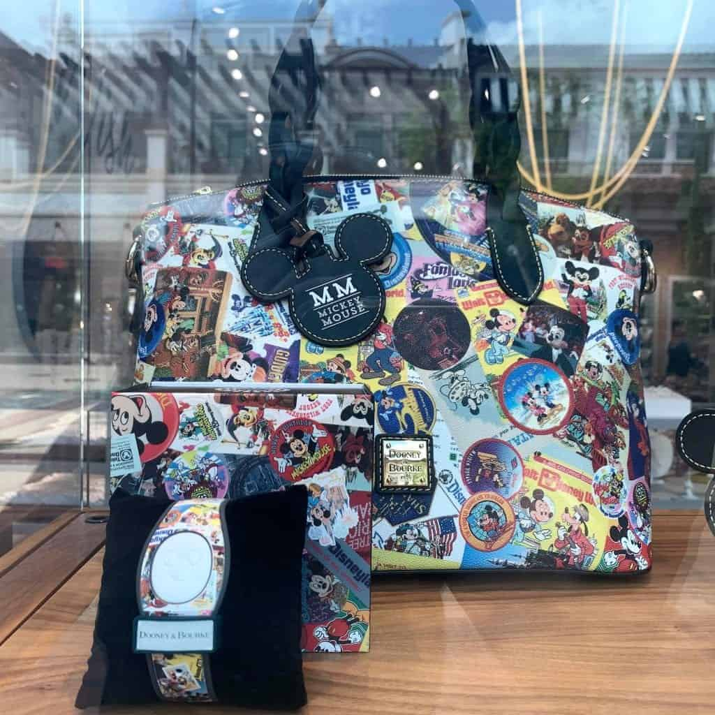 Mickey Through the Years Collage Satchel