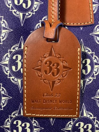 Inaugural Club 33 Walt Disney World Leather Hang Tag