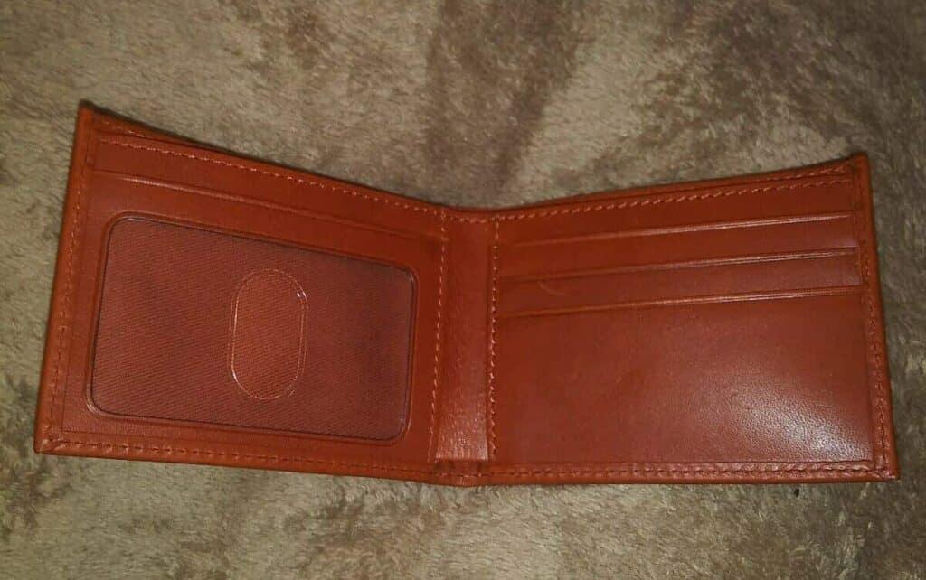 Club 33 Leather Men's Wallet (inside)