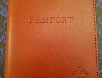 Club 33 Leather Passport Cover