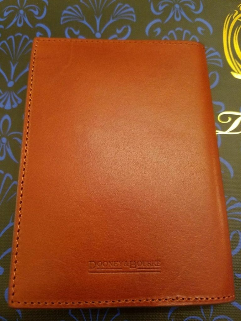 Club 33 Leather Passport Cover (back)
