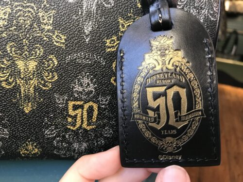 Haunted Mansion 50th Anniversary Leather Hang Tag