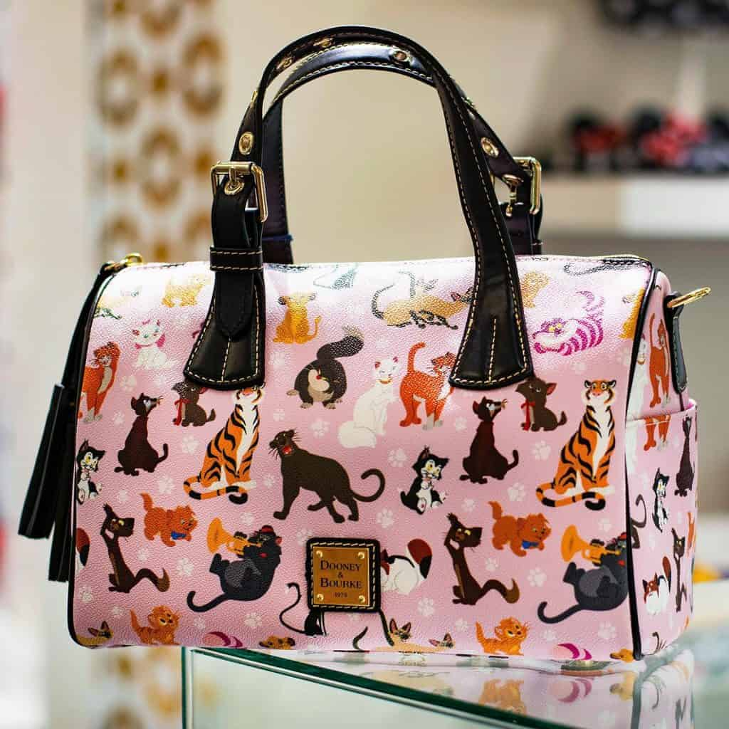 Disney Dooney and Bourke Cats 2019 Barrel Satchel