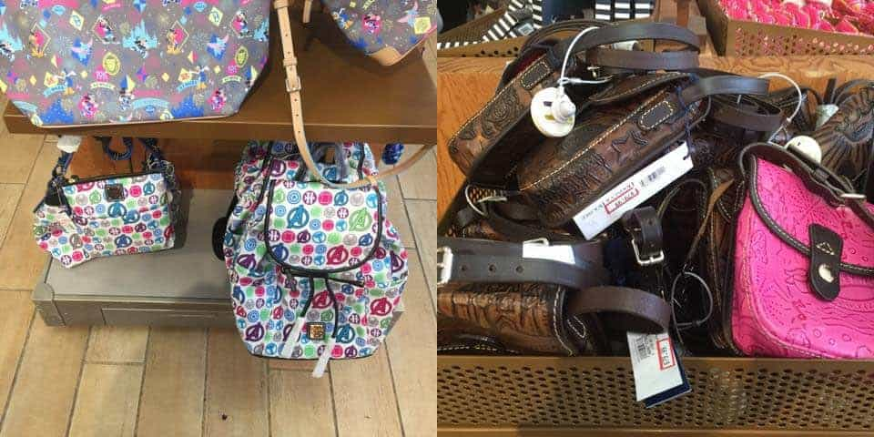 Disney Dooney & Bourke bags at Disney's Character Warehouse at the Orlando Premium Outlets