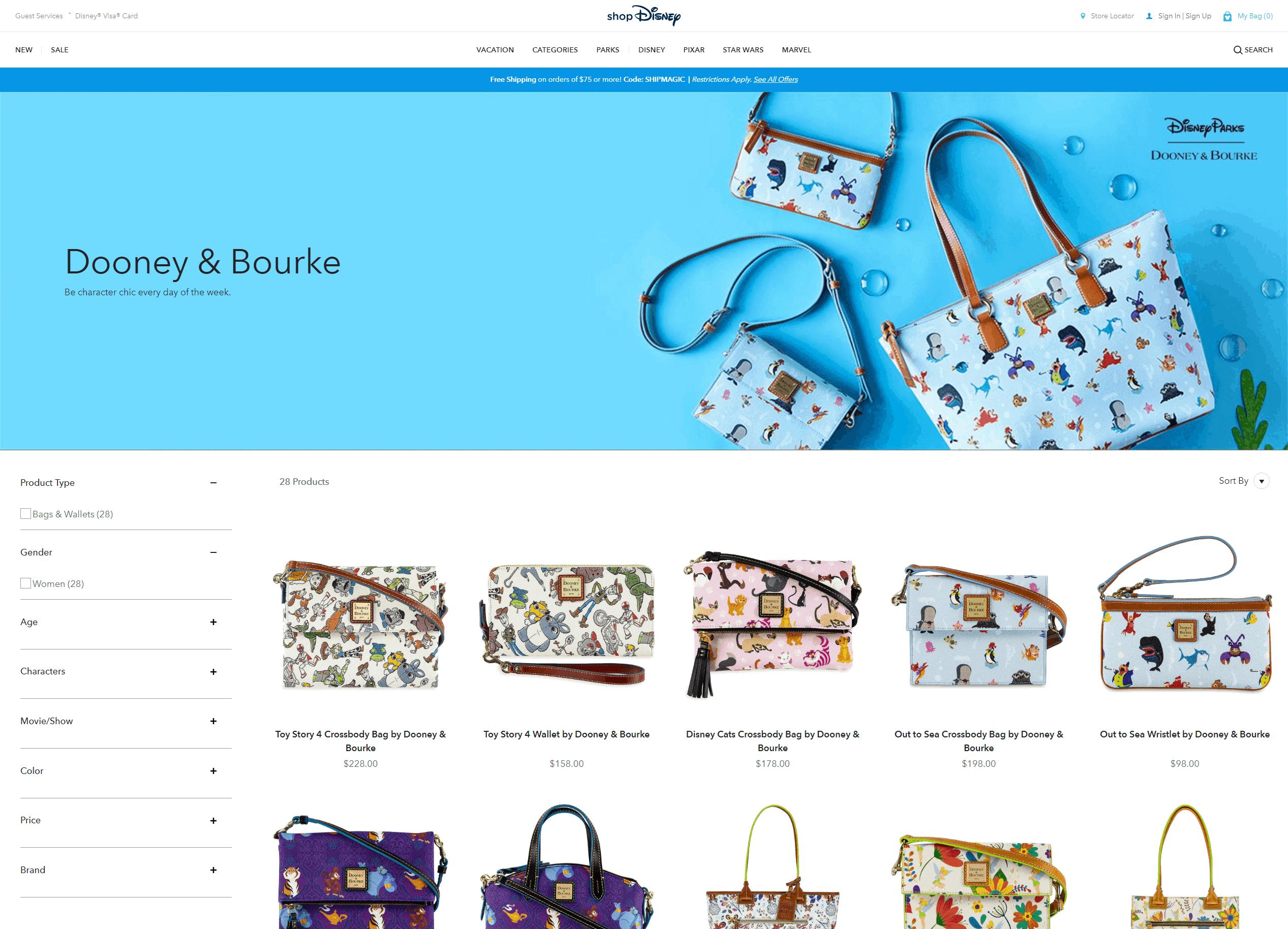 ShopDisney.com Screenshot