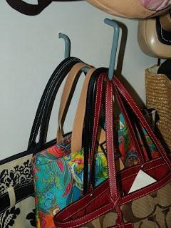 Using a Bike Hook to store handbags