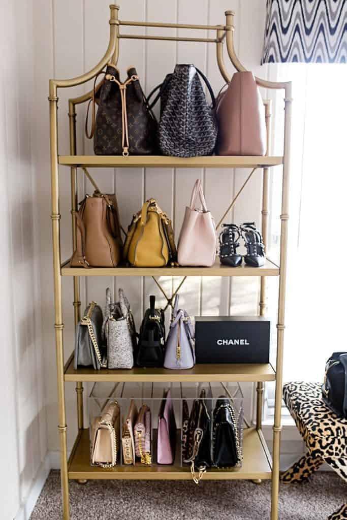 Bookcase Handbag Storage