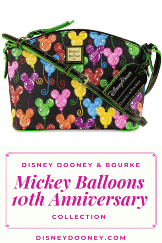 Pin me - Disney Dooney and Bourke 10th Anniversary Disney Mickey Balloons Collection