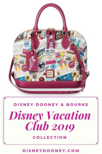 Pin me - Disney Dooney and Bourke Disney Vacation Club 2019 Collection