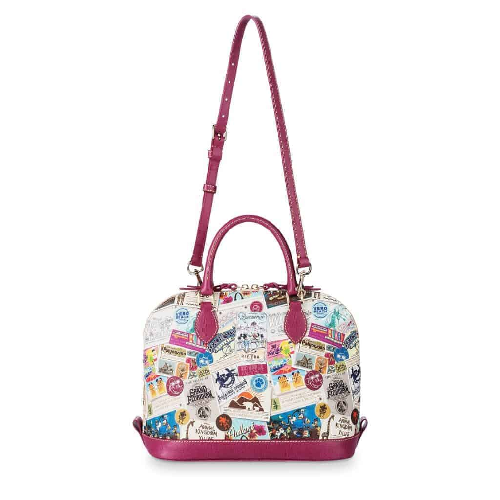 Disney Vacation Club Zip Satchel (back and strap) by Dooney & Bourke