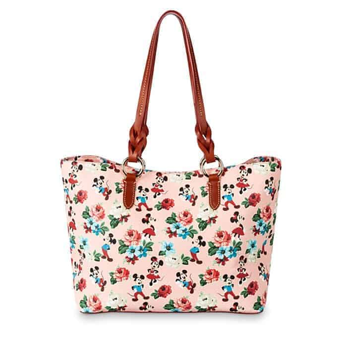 Mickey and Minnie Mouse Floral Tote (back) by Dooney & Bourke