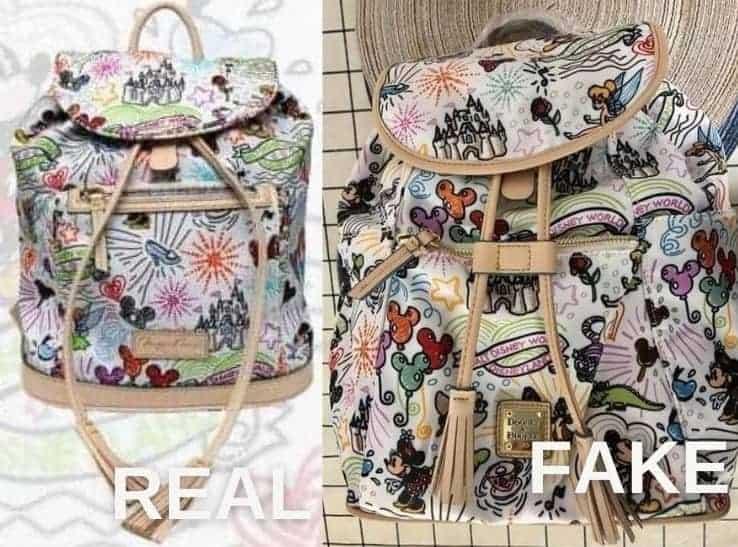 Nylon Sketch Backpack vs Fake Sketch Backpack