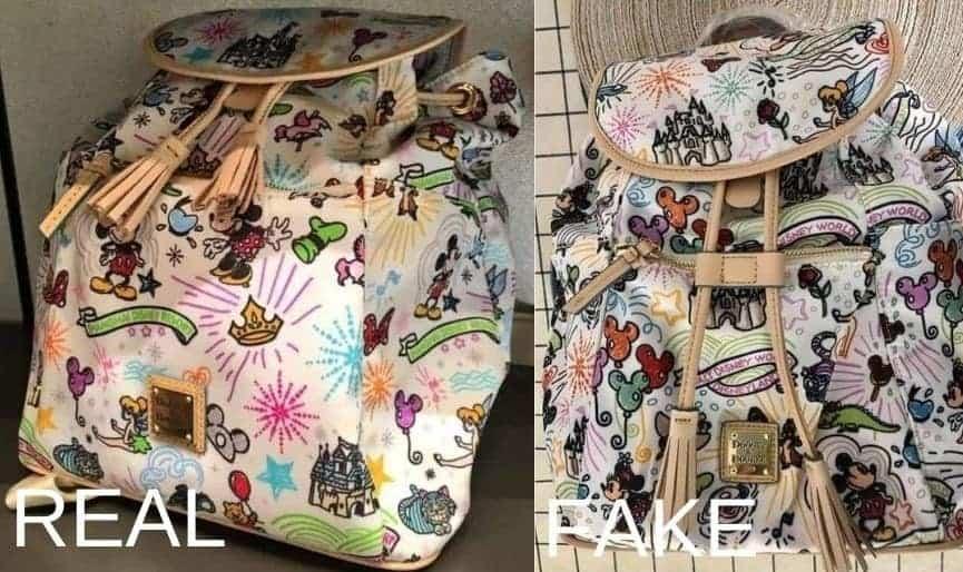 Shanghai Sketch Backpack vs Fake Sketch backpack