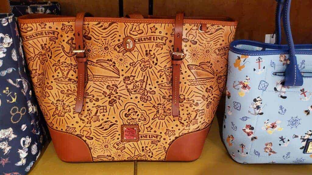 Disney Cruise Line Embossed Brown Leather Sketch 2017 Tote