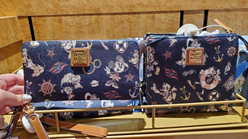 Disney Cruise Line Navy Mickey and Friends 2018 Wallet and CrossbodyTote