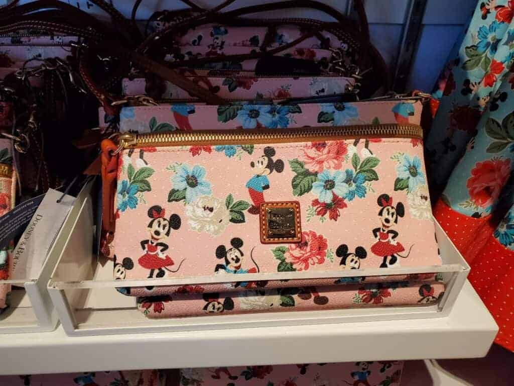 Mickey & Minnie Floral Pouchette at The Dress Shop in Downtown Disney