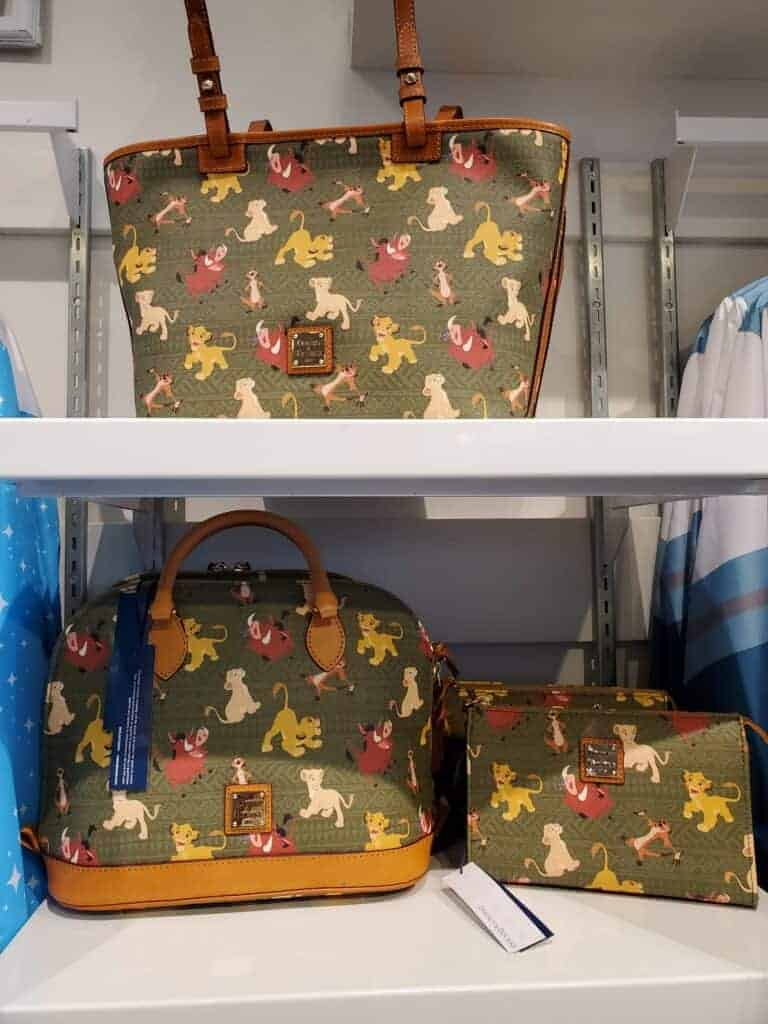 Disney Dooney and Bourke Lion King Collection at the Dress Shop in Disneyland
