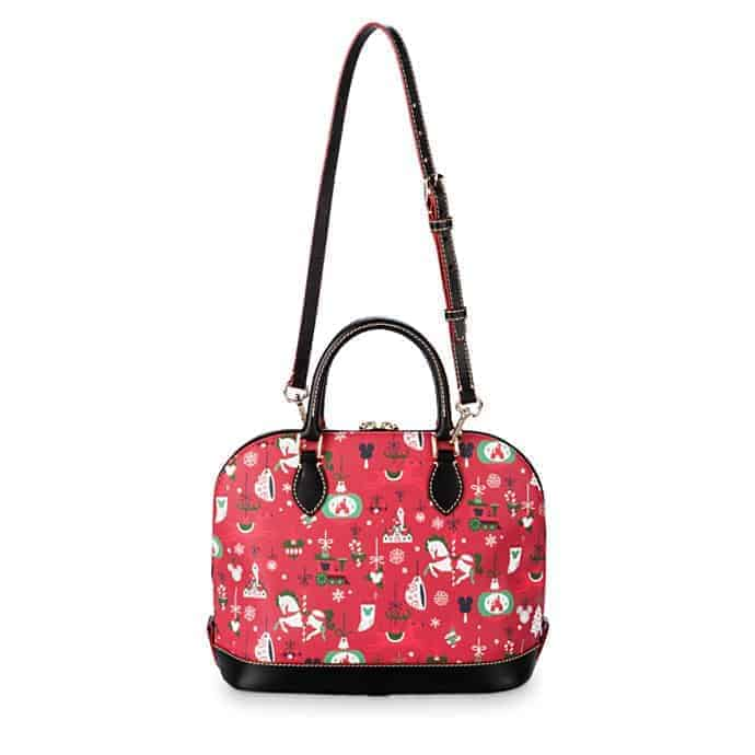 Disney Parks Holiday 2019 Zip Satchel (back and strap) by Dooney & Bourke