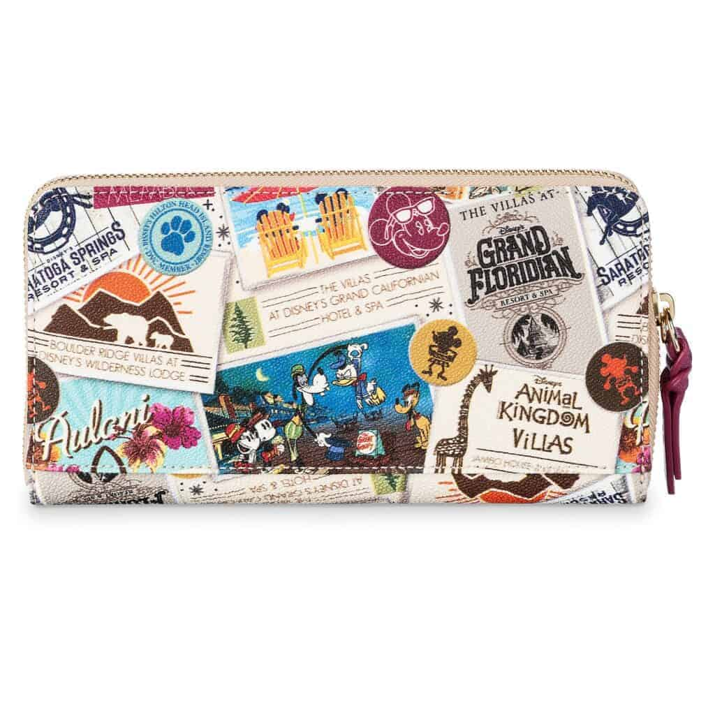 Disney Vacation Club Zip Wallet back by Dooney and Bourke