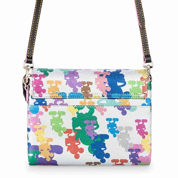 Mickey Mouse Silver Crossbody Bag (back) by Dooney & Bourke – 10th Anniversary