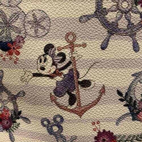 Disney Cruise Line Dooney & Bourke Minnie Print Detail of Minnie on Anchor