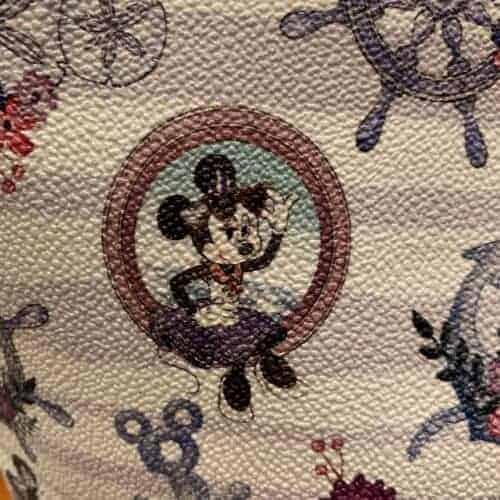 Disney Cruise Line Dooney & Bourke Minnie Print Detail of Minnie in Porthole