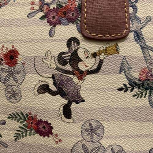 Disney Cruise Line Dooney & Bourke Minnie Print Detail of Minnie with Spyglass