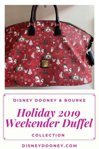 Pin me - Disney Dooney and Bourke Christmas Holiday 2019 Weekender Duffel Bag
