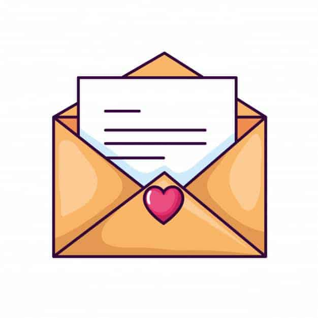 cute envelope icon open with card heart 24877 60896