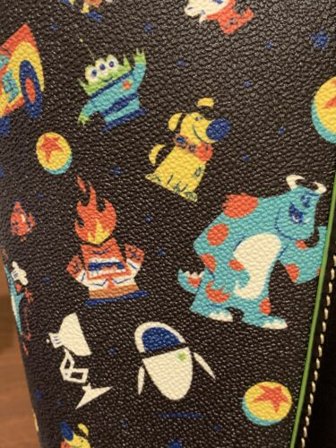 Pixar 2020 Dooney & Bourke Print Close-Up (Sulley, Dug, Anger, EVE, Luxo Lamp, Luxo Ball, Alien)