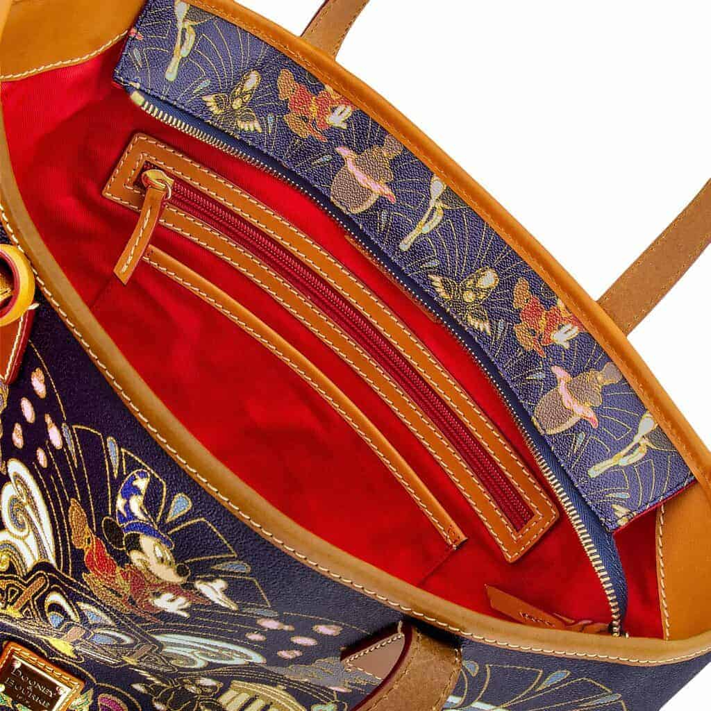 Fantasia 80th Anniversary Tote (open) by Dooney & Bourke