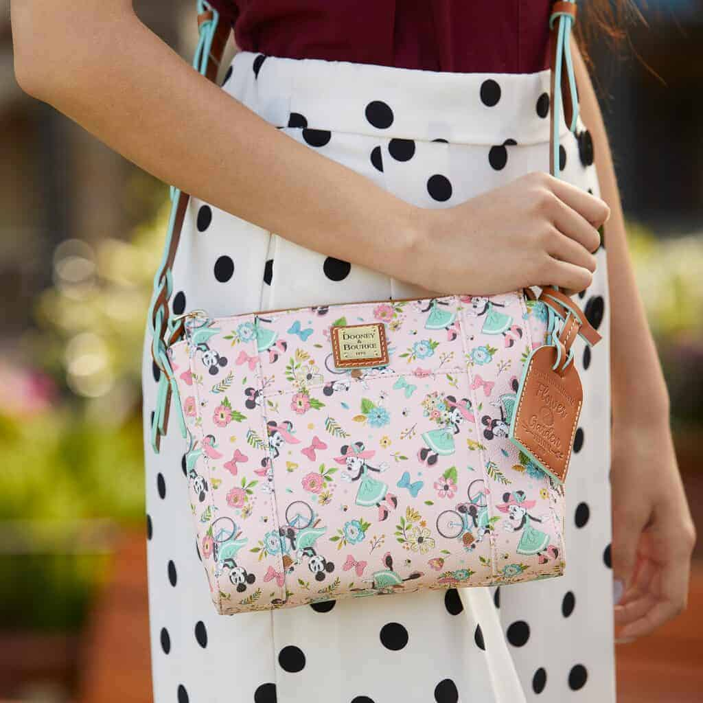 Flower and Garden Festival 2020 Crossbody with model by Dooney & Bourke