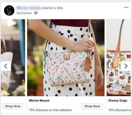 Disney Dooney Facebook Scam Ad
