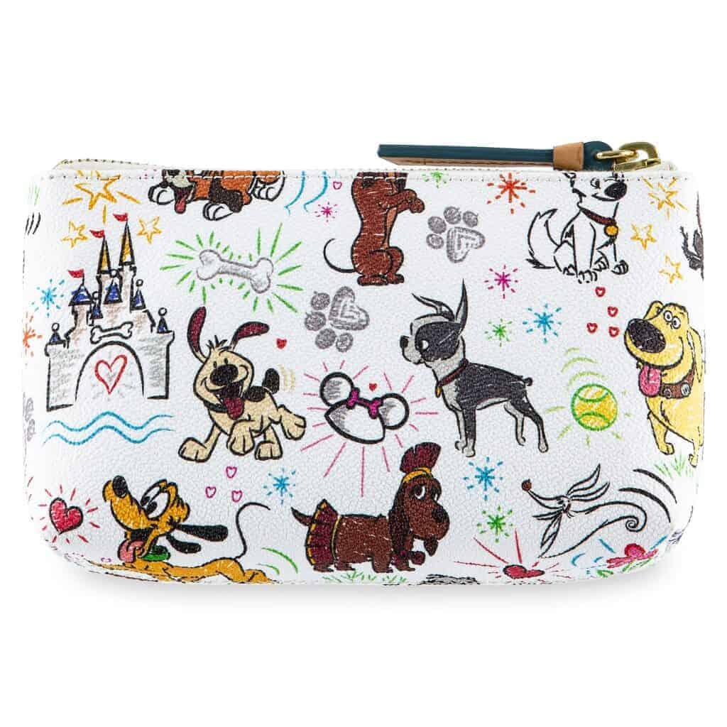 Disney Dogs Sketch Cosmetic Case (back) by Dooney & Bourke