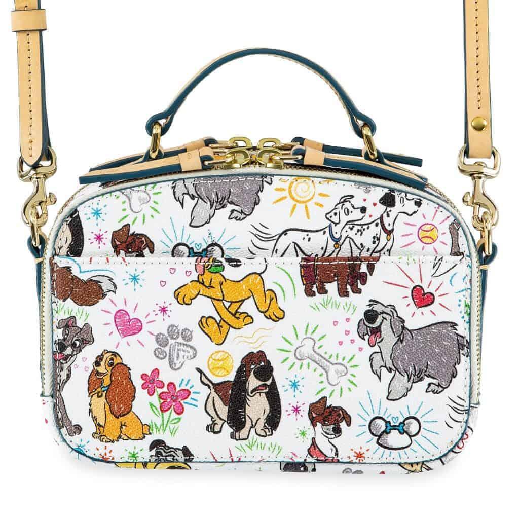 Disney Dogs Sketch Ambler Crossbody Bag (back) by Dooney & Bourke