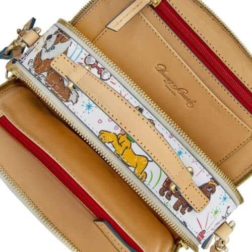 Disney Dogs Sketch Ambler Crossbody Bag (interior) by Dooney & Bourke