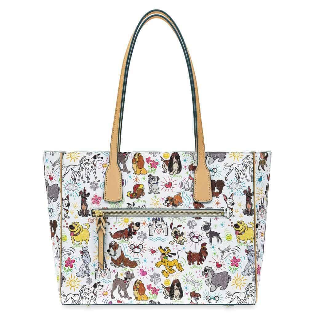 Disney Dogs Sketch Tote Bag (back) by Dooney & Bourke
